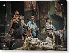 The Men Mourn Acrylic Print