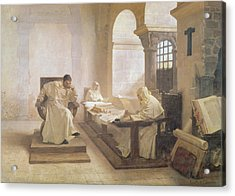 The Men Of The Holy Office Oil On Canvas See Also 166365 Acrylic Print by Jean Paul Laurens