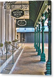 The Menger Hotel In San Antonio Acrylic Print