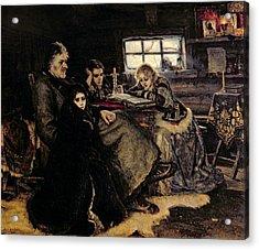 The Menshikov Family In Beriozovo, 1883 Oil On Canvas Acrylic Print by Vasilij Ivanovic Surikov