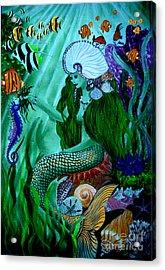 The Mermaid Acrylic Print by Sylvie Heasman
