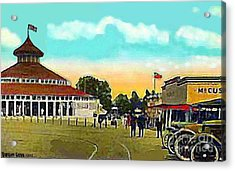 The Merry-go-round At Crescent Park In Providence Ri In 1910 Acrylic Print