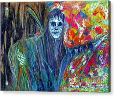 The Messenger Acrylic Print by Azul Fam