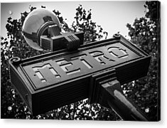 The Metro Sign Paris Acrylic Print