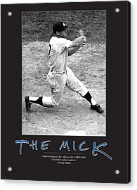 The Mick Mickey Mantle Acrylic Print by Retro Images Archive