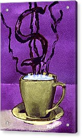 Acrylic Print featuring the painting The Midas Cup by Paula Ayers