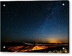 The Milky Way And My Shadow Acrylic Print by Matt Molloy