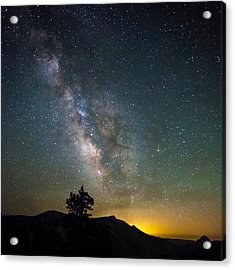 The Milky Way Meets The Aspen Fire Acrylic Print