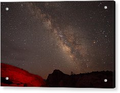 The Milky Way Over Mesa Arch Acrylic Print