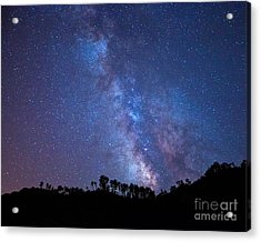 The Milky Way Over The Mountain Acrylic Print