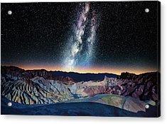 The Milky Way Over Zabriskie Point Acrylic Print by Matt Anderson Photography