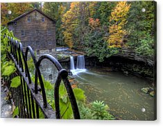 The Mill And Falls At Mill Creek Park Acrylic Print