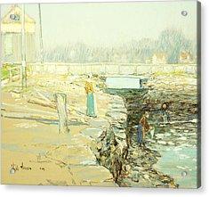 The Mill Dam Cos Cob Acrylic Print