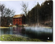 The Mill Pond Acrylic Print by Ron  McGinnis