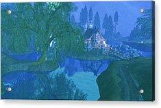 The Mill Stream Acrylic Print by Amanda Holmes Tzafrir