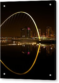 The Millenium Bridge At Night Acrylic Print by Stephen Taylor