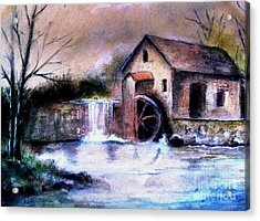 Acrylic Print featuring the painting The Millstream by Hazel Holland