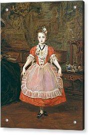 The Minuet  Acrylic Print by Sir John Everett Millais