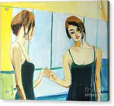 The Mirror Has Two Faces Acrylic Print by Judy Kay