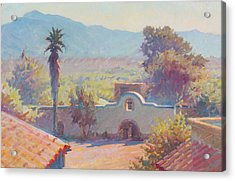 The Mission At Tubac Acrylic Print by Ernest Principato
