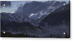 Acrylic Print featuring the pyrography The Mist by Timothy Latta