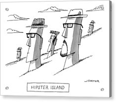 Hipster Island Acrylic Print