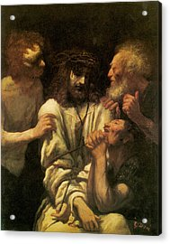 The Mocking Of Christ Acrylic Print by Paul-Gustave Dore