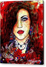 The Model Acrylic Print by Natalie Holland