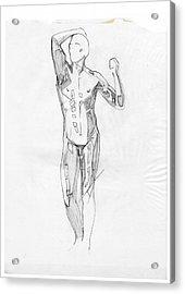 The Modern Age - Homage Rodin Acrylic Print