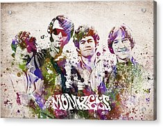 The Monkees Acrylic Print by Aged Pixel