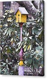 The Monkey's Garden Acrylic Print by Trish Tritz