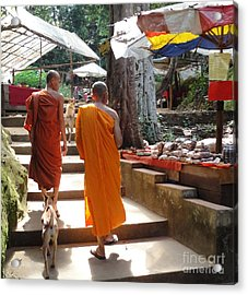 The Monks Have A Rest Acrylic Print by Yury Bashkin