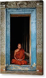 The Monks Of Wat Bo Acrylic Print