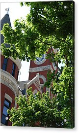Acrylic Print featuring the photograph The Monroe Courthouse Tower by Ramona Whiteaker