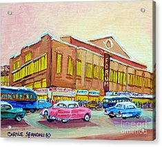 The Montreal Forum Acrylic Print by Carole Spandau