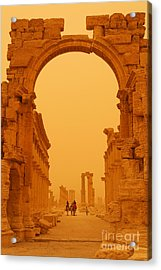 The Monumental Arch At Palmyra Syria In The Light After A Sandstorm Acrylic Print by Robert Preston