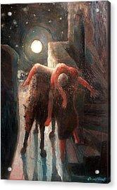 The Moon And The Good Samaritan Acrylic Print