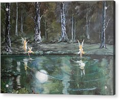 The Moon Fairies Acrylic Print