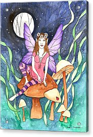 The Moon Fairy Acrylic Print