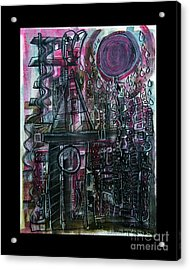 The Moon Is A Red Balloon When It Rains Acrylic Print by Mimulux patricia no No