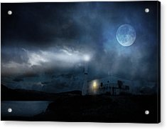The Moon Touches Your Shoulder Acrylic Print by Taylan Apukovska