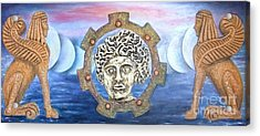 The Moons Of Infinite Time Acrylic Print by Anna Maria Guarnieri
