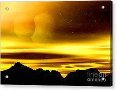 Acrylic Print featuring the painting The Moons Of Midas by Pet Serrano