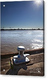 The Mooring Acrylic Print by Kay Pickens