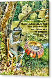 The More That You Read... Acrylic Print by Jean Goodwin Brooks