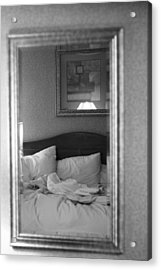 The Morning After Black And White Acrylic Print