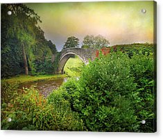 Acrylic Print featuring the photograph The Morning Bridge by Roy  McPeak