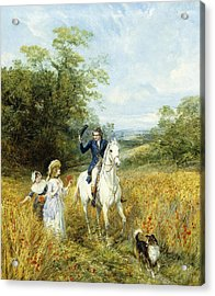 The Morning Ride Acrylic Print by Heywood Hardy
