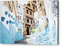 The Moroccan Blue City, Chefchaouen Acrylic Print by Oscar Wong