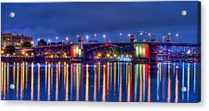 Acrylic Print featuring the photograph Morrison Bridge - Pdx  by Thom Zehrfeld
